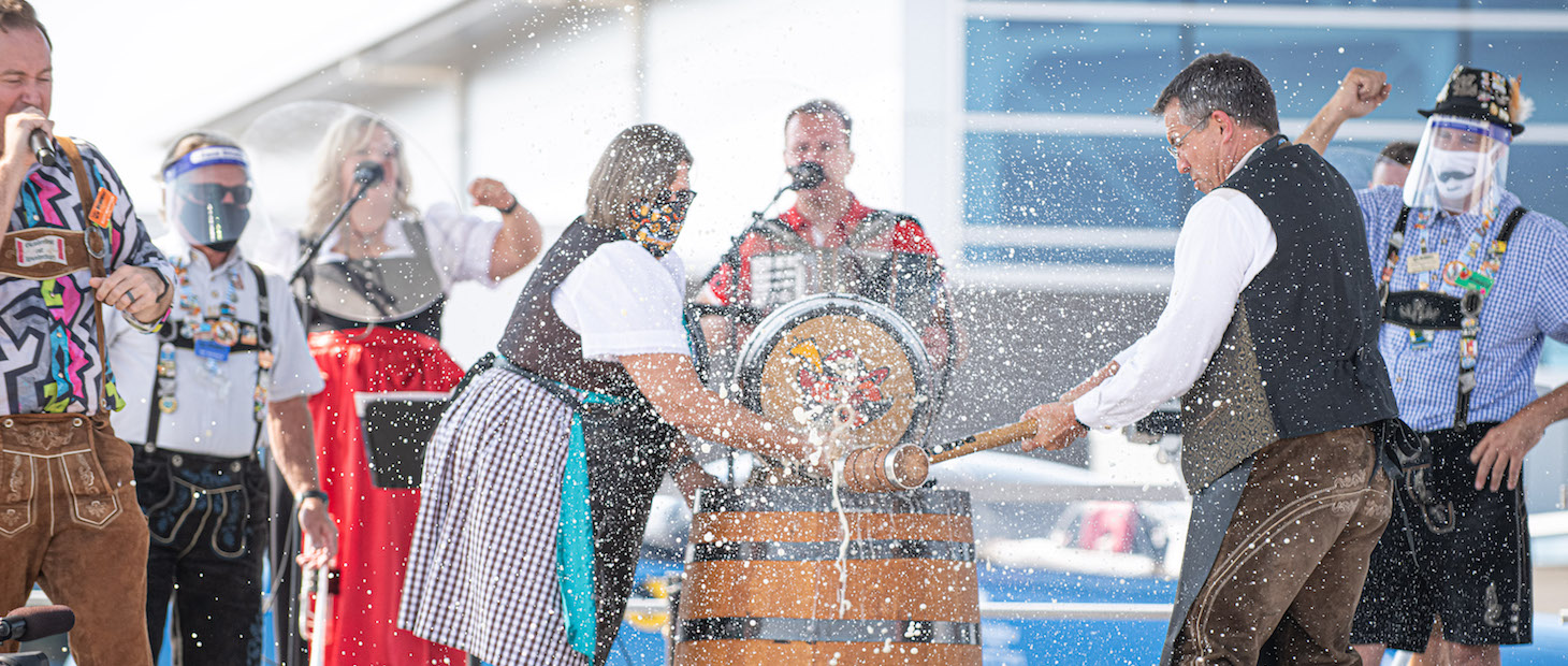 Tapping of the keg for Kitchener-Waterloo Oktoberfest