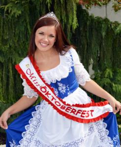 Miss Oktoberfest 2012 Lindsay Coulter
