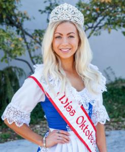 Miss Oktoberfest 2017 Mikaila Emrich
